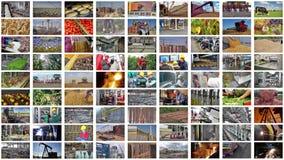 Producción industrial del collage foto de archivo