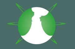 Producción limpia del logotipo Fotografía de archivo