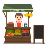 Producción local de las verduras de la venta por agricultores del mercado Imágenes de archivo libres de regalías