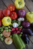 Producción orgánica fresca del jardín Fotografía de archivo libre de regalías