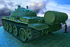 Producción pesada del tanque de URSS. Imagen de archivo libre de regalías