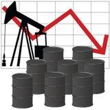 Producción petrolífera Fotografía de archivo libre de regalías