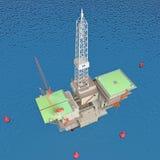 Producción petrolífera Foto de archivo