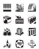 Producción y proceso de los cereales del grano Imagen de archivo libre de regalías