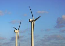 Producción energética eólica Imagen de archivo libre de regalías