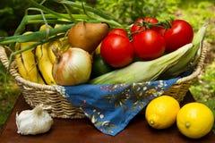 Produce basket Royalty Free Stock Photography