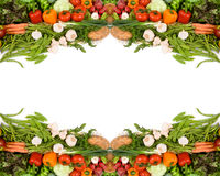Produce Billboard. Attractive produce billboard decorated with veggies and some fruits royalty free stock photography