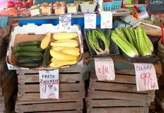 Produce. Fresh produce at a local farmers market Stock Image