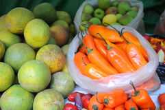 Produce at the Market Royalty Free Stock Image