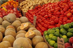 Produce at the Market Stock Photography