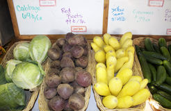 Produce Market. Produce display at a farmer's market royalty free stock images