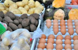 Produce market stall Royalty Free Stock Image