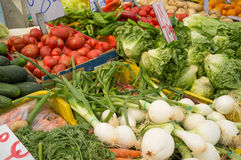 Produce on a market stall Stock Image