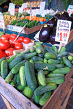 Produce market stand Royalty Free Stock Images