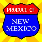 Produce Of New Mexico. Route 66 style traffic sign with the legend Produce Of New Mexico royalty free illustration