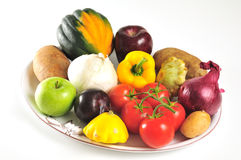 Produce platter Stock Photography