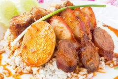 Produce of pork. Thai food is delicious menu Royalty Free Stock Image