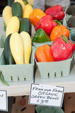 Produce for sale at farmer`s market Stock Images