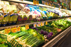 Produce section at a grocrey store Royalty Free Stock Images