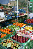 Produce Stand. A produce stand in Tuebingen Germany with fresh local fruits and vegetables Stock Photo