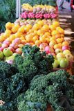 Produce stand in Charleston, SC at Saturday market stock photos