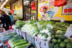Produce Vendor Chinatown NYC Royalty Free Stock Image