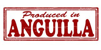 Produced in Anguilla. Stamp with text produced in Anguilla inside,  illustration Royalty Free Stock Images