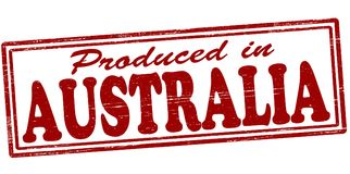 Produced in Australia. Stamp with text produced in Australia inside,  illustration Royalty Free Stock Photography