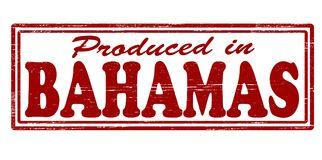 Produced in Bahamas. Stamp with text produced in Bahamas inside,  illustration Royalty Free Stock Images