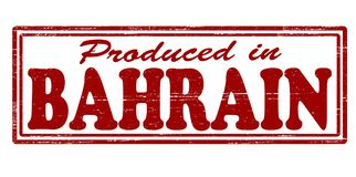 Produced in Bahrain. Stamp with text produced in Bahrain inside,  illustration Royalty Free Stock Image