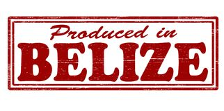 Produced in Belize. Stamp with text produced in Belize inside,  illustration Royalty Free Stock Photo