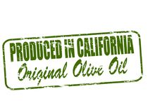 Produced in California. Rubber stamp with text produced in California inside,  illustration Stock Photo