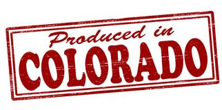 Produced in Colorado. Stamp with text produced in Colorado inside,  illustration Royalty Free Stock Photography