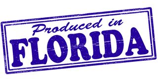 Produced in Florida. Stamp with text produced in Florida inside,  illustration Royalty Free Stock Photos