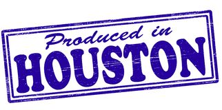 Produced in Houston. Stamp with text produced in Houston inside,  illustration Royalty Free Stock Photos