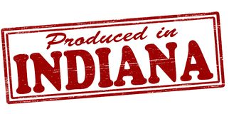 Produced in Indiana. Stamp with text produced in Indiana inside,  illustration Royalty Free Stock Photography