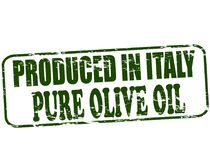 Produced in Italy. Rubber stamp with text produced in Italy inside,  illustration Royalty Free Stock Image