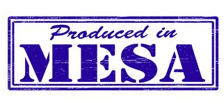 Produced in Mesa. Stamp with text produced in Mesa inside,  illustration Royalty Free Stock Image