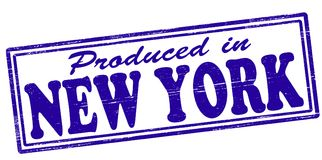 Produced in New York. Stamp with text produced in New York inside,  illustration Royalty Free Stock Photo