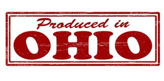 Produced in Ohio. Stamp with text produced in Ohio inside,  illustration Royalty Free Stock Image