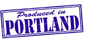 Produced in Portland. Stamp with text produced in Portland inside,  illustration Royalty Free Stock Photography