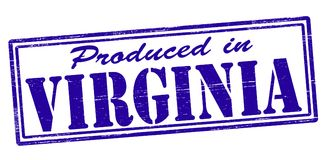 Produced in Virginia. Stamp with text produced in Virginia inside,  illustration Stock Photo