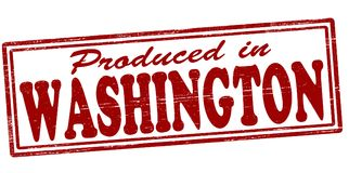Produced in Washington. Stamp with text produced in Washington inside,  illustration Stock Photography