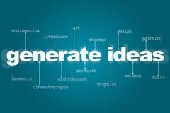 Produceer ideeën voor creativiteit Stock Foto's