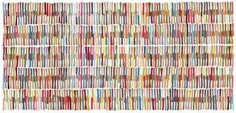Produceerde het hand getrokken korte tellerslijnen gebaseerde die patroon, rechtstreeks wordt samengesteld uit, manueel strepen Royalty-vrije Stock Fotografie