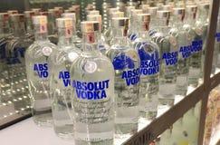 Producent för alkohol för skärm för Absolut vodkaflaska svensk Fotografering för Bildbyråer