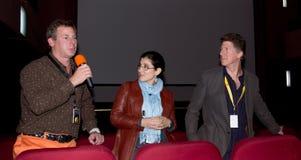 Producent Matthew fin Q&A, komediCluj festival Royaltyfri Fotografi