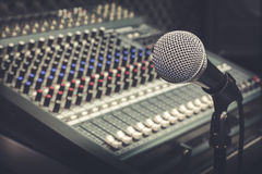 Producenta muzyka lub muzyki wyposażenia pojęcie Obrazy Stock