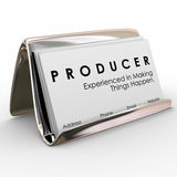 Producer Business Cards Experienced Making Things Happen Stock Photo