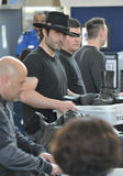 Producer/director Robert Rodriguez at LAX airport Stock Images